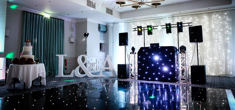 Wotton House, Dorking, Surrey - Wedding DJ, Star Lit LED Twinkle Dance Floor