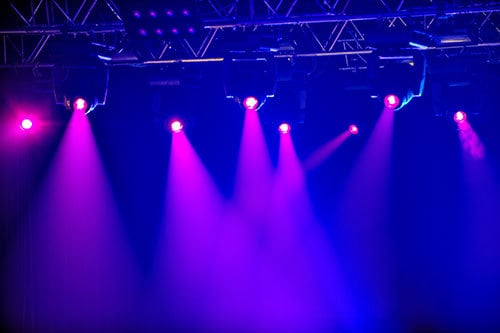 purple lighting - audio visual hire surrey
