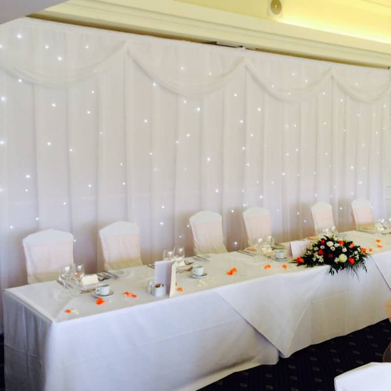 Wedding Backdrops London and Surrey - white backdrops and drapery