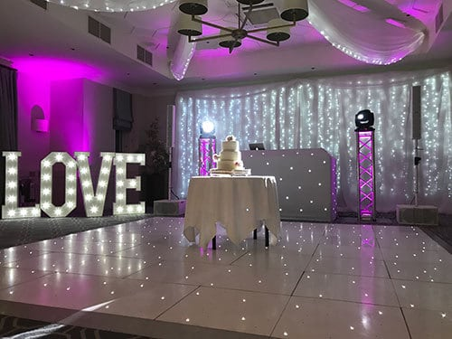 Starlit White Dance Floor Hire London and Surrey