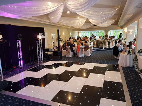 Chequerboard Dance Floor Hire London and Surrey
