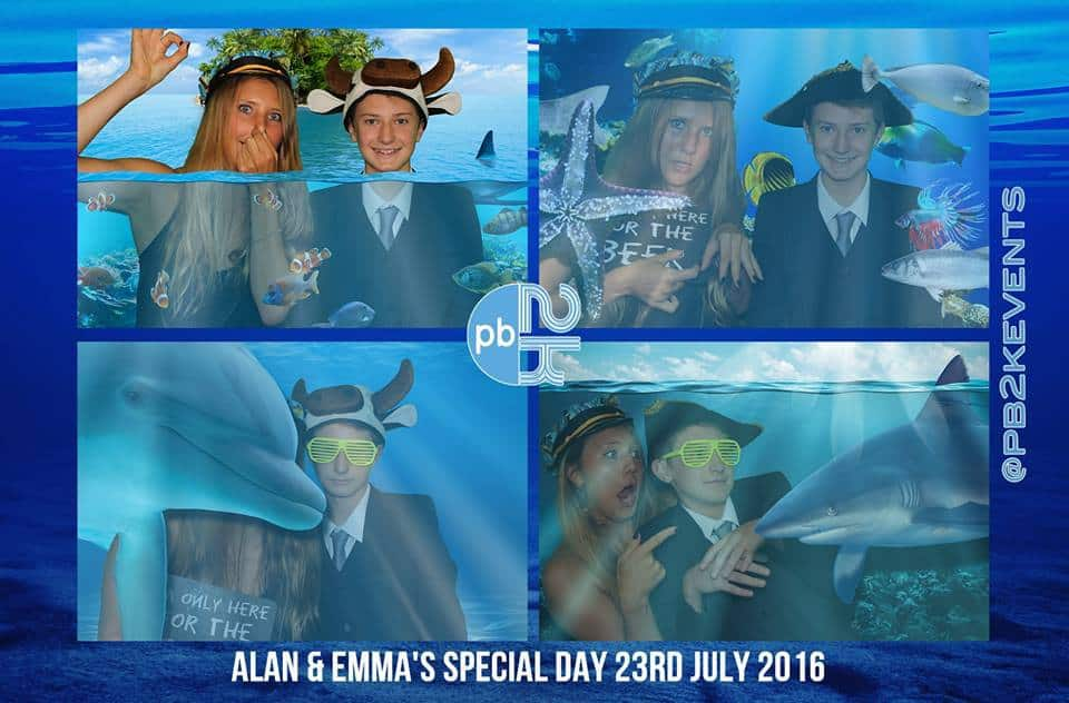 Fun underwater effect photos - Photobooth Hire Surrey and London