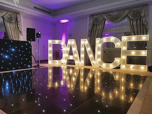 illuminated letters hire surrey 5 - Why if you want a 5-star wedding, you need to pick a 5-star Wedding DJ