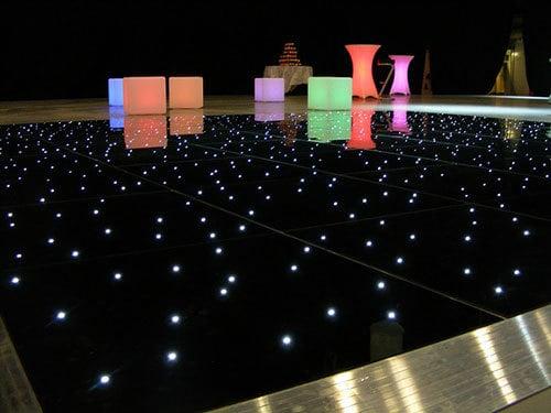Starlit Black Dance Floor Hire London and Surrey